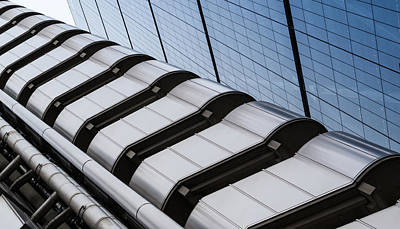 Lloyds Building Bank In London Art Print by John Williams