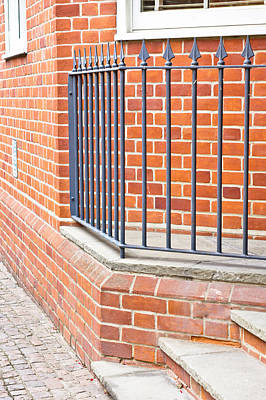 Wrought Iron Fence Photograph - Modern Bulding by Tom Gowanlock