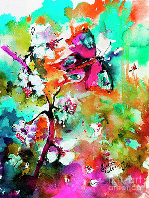 Painting - Modern Butterfly Colorful Abstract by Ginette Callaway