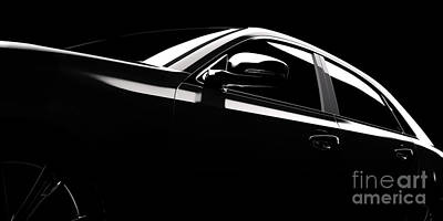 Photograph - Modern Car Silhouette In Spotlight by Michal Bednarek
