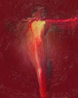 Crucify Digital Art Digital Art - Modern Christ Passion by Joaquin Abella