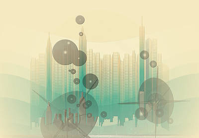 Photograph - Modern City Abstract by Robert G Kernodle