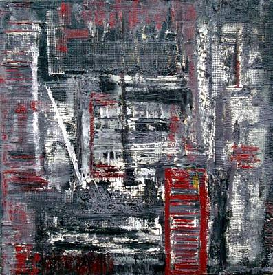 Impasto Painting - Modern City by Holly Anderson
