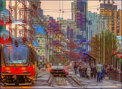 Photograph - Modern City Impression by Vladimir Kholostykh