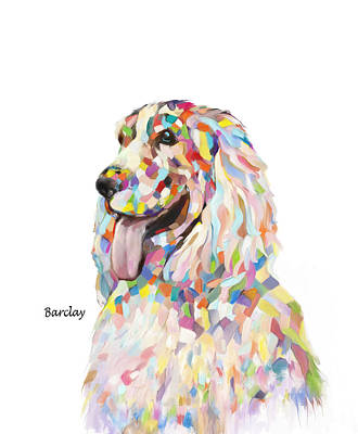 Painting - Modern Cocker Spaniel by Enzie Shahmiri