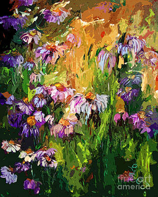 Painting - Modern Coneflower Art Mixed Media by Ginette Callaway