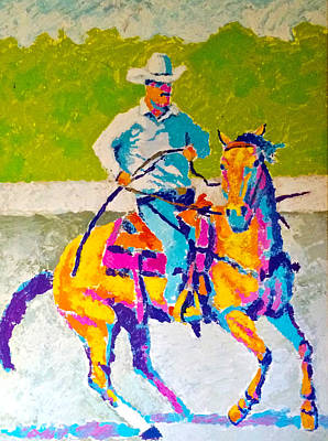 Drawing - Modern Cowboy by Bern Miller