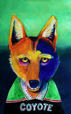 Painting - Modern Coyote  by Rick Mosher