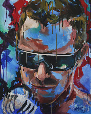 Music Ipod Painting - Modern Crooner by Julia Pappas