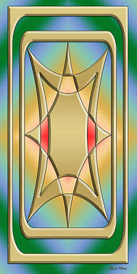 Digital Art - Modern Designs Vertical 4 - Chuck Staley by Chuck Staley