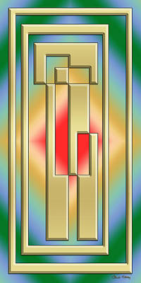 Digital Art - Modern Designs Vertical - Chuck Staley by Chuck Staley