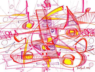 Modern Drawing - Modern Drawing Eighty-three by Lynne Taetzsch