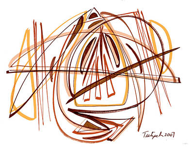Modern Drawing Twenty-four Art Print by Lynne Taetzsch