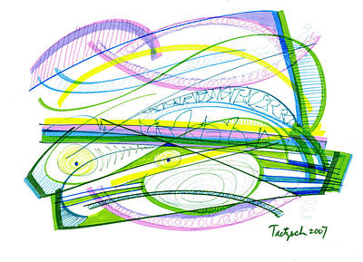 Travel Rights Managed Images - Modern Drawing Twenty-Six Royalty-Free Image by Lynne Taetzsch