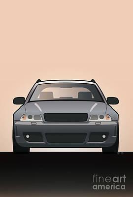 Modern Euro Icons Car Series Audi Rs4 A4 Avant Quattro B5 Original