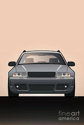 Modern Euro Icons Car Series Audi Rs4 A4 Avant Quattro B5 Original by Monkey Crisis On Mars
