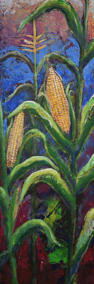 Painting - Modern Expressionist Restaurant Art Corn On The Cob by Gray Artus