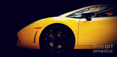 Detail Photograph - Modern Fast Car Close-up Side View On Black by Michal Bednarek