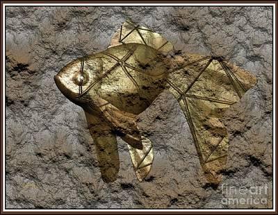 Modern Figurine Of Fish 100 Original by Pemaro