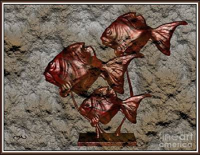 Modern Figurine Of Fish 110 Original by Pemaro