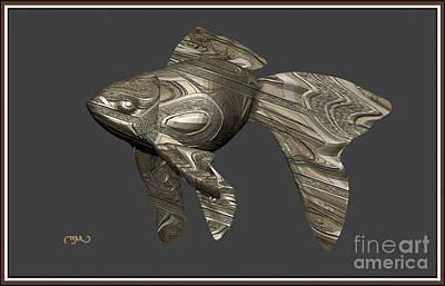 Modern Figurine Of Fish 30 Original