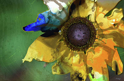 Painting - Modern Floral Art - Untamed Beauty - Sharon Cummings by Sharon Cummings