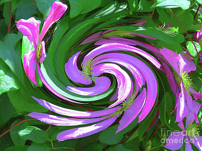 Digital Art - Modern Floral Swirl - Contemporary Art by Merton Allen