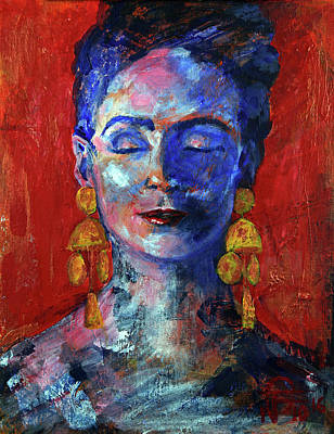 Painting - Modern Frida by Walter Fahmy