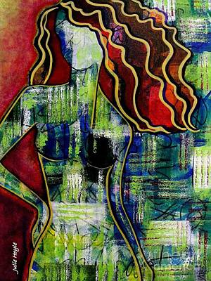 Mixed Media - Modern Girl by Julie Hoyle