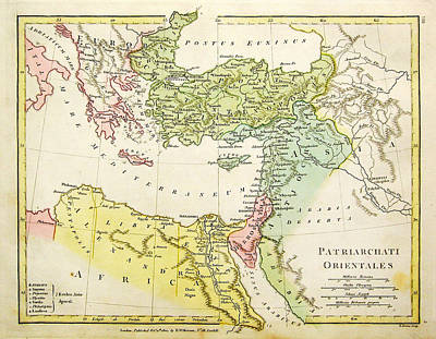 Antique Map Painting - modern Greece under Rome by Celestial Images
