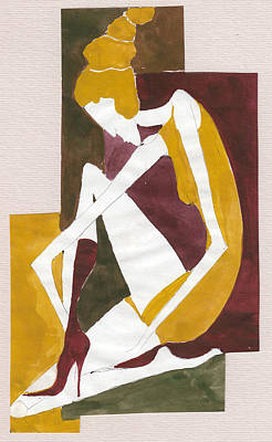 Painting - Modern Greek Goddess by Maya Manolova