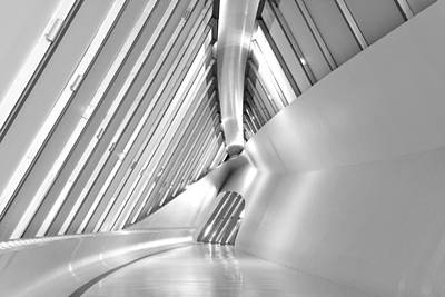 Photograph - Modern Hallway Monochrome by Marek Stepan