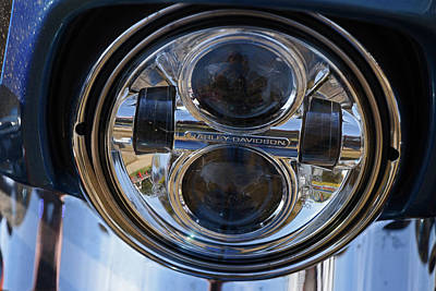 Photograph - Modern Harley Headlight by Mike Martin