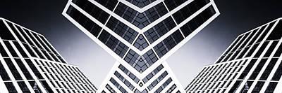 Photograph - Modern High Rise Glass Building Mono Stark by John Williams