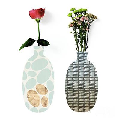 Modern Home Iv A Fresh Take On Floral Art Art Print by Tina Lavoie