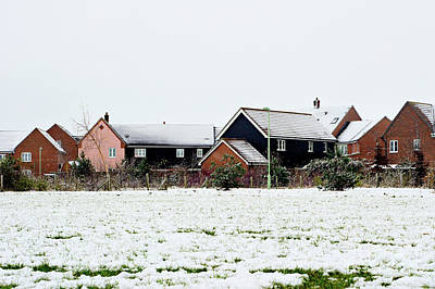 Photograph - Modern Homes In The Snow by Tom Gowanlock