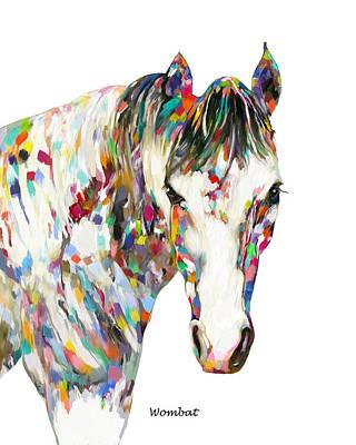 Painting - Modern Horse by Enzie Shahmiri