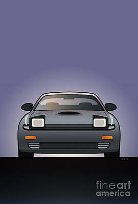 Modern Japanese Icons Series Toyota Celica  Gt-four All-trac Turbo St185 Art Print by Monkey Crisis On Mars