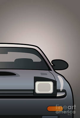 Modern Japanese Icons Series Toyota Celica  Gt-four All-trac Turbo St185 Split Art Print