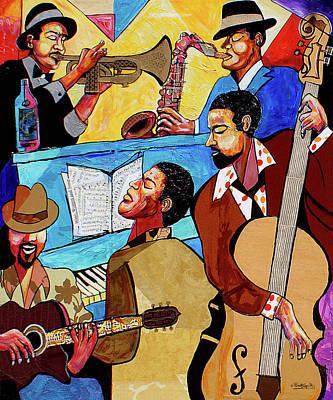 Mixed Media - Modern Jazz Quintet Side A by Everett Spruill