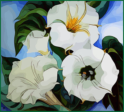 Digital Art - Modern Lilly by Gary Grayson