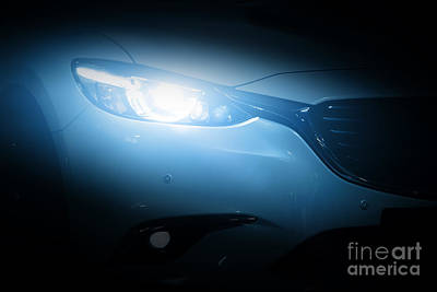 Service Photograph - Modern Luxury Car Close-up Background by Michal Bednarek