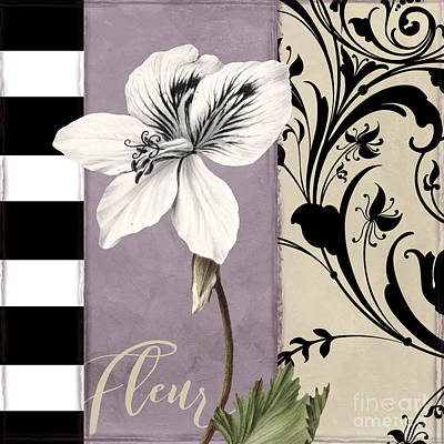 White Flowers Painting - Modern Mauve by Mindy Sommers