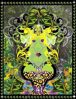 Modern Medussa 12011 Art Print by George Pasini