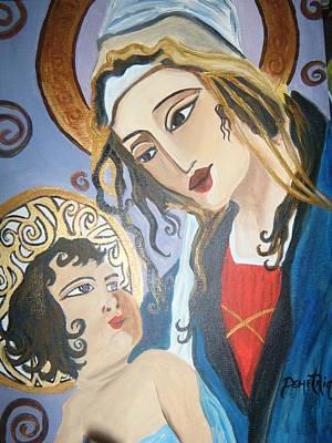 Modern Mother And Child Art Print by Demetria Kelley