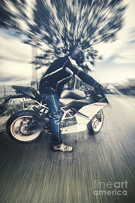 Modern Motorcyclists Art Print by Jorgo Photography - Wall Art Gallery