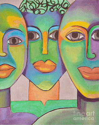 Painting - Modern Pop Art Faces by Patricia Cleasby