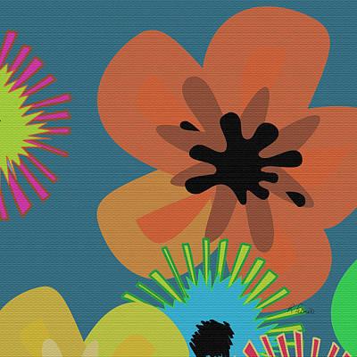 Modern Pop Floral II Art Print
