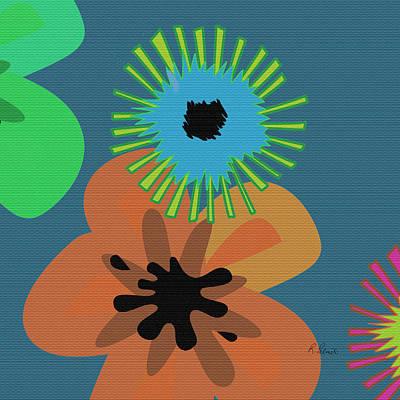 Modern Pop Floral  Art Print