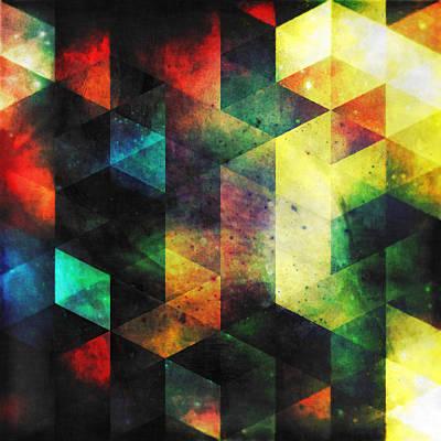 Quadro Digital Art - Modern Quadratic Abstraction by Kristian Leov